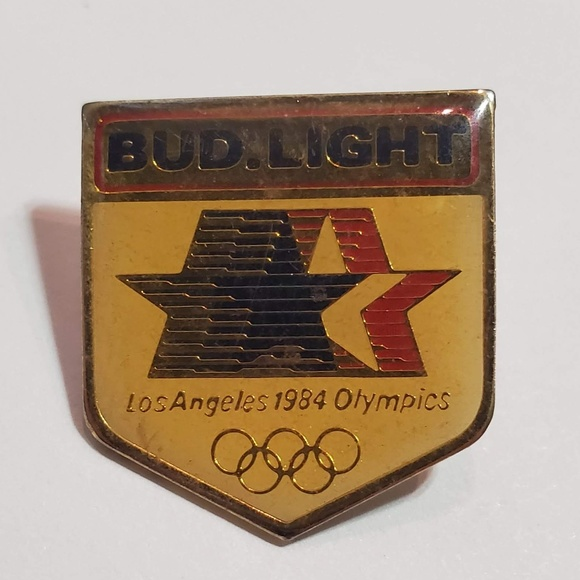 Accessories - Los Angeles 1984 Olympics pin -Bud Light Beer